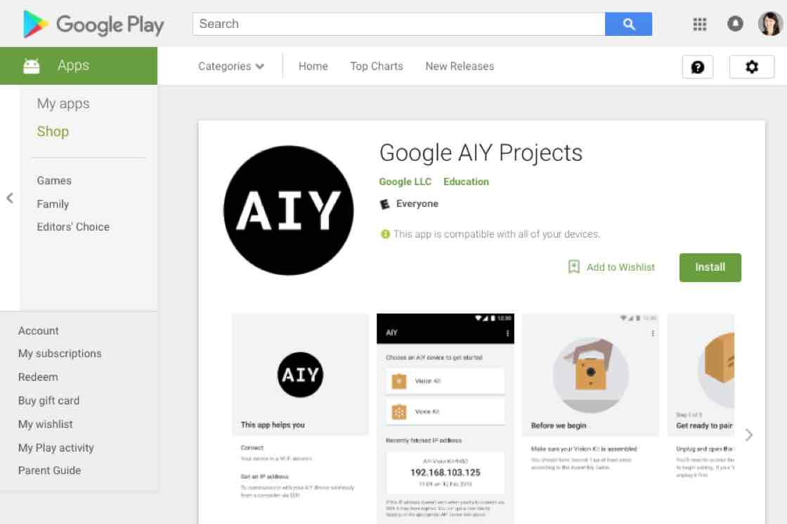 Voice Direct Online Starter Wiring Diagram 3 Phase Download The Aiy Projects App
